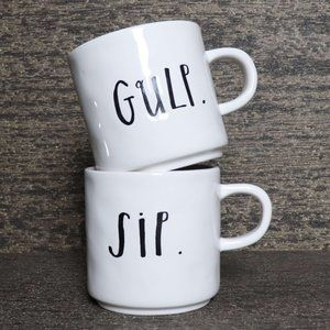 🆕Rae Dunn Sip and Gulp Mugs Classic Stem Print
